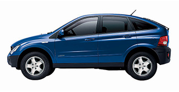Rent a SsangYong Actyon 2300cc  car in Crete
